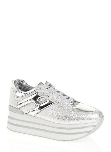 Derigo Platform Ayakkabı Gümüş